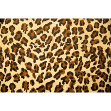 MIcropeluche Estampado Leopardo Natural/Marron